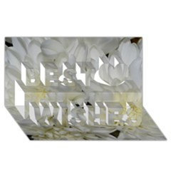 White Flowers 2 Best Wish 3d Greeting Card (8x4)