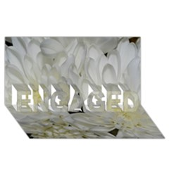 White Flowers 2 ENGAGED 3D Greeting Card (8x4)