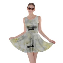White Flowers 2 Skater Dresses
