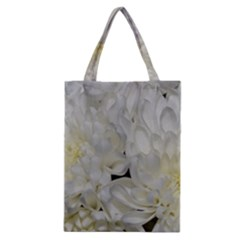 White Flowers 2 Classic Tote Bags