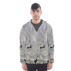 White Flowers 2 Hooded Wind Breaker (Men)