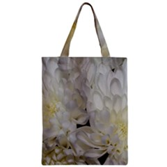 White Flowers 2 Zipper Classic Tote Bags