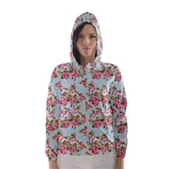 Raining Roses Hooded Wind Breaker (Women)