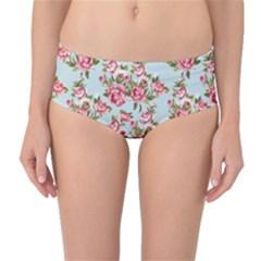 Mid Waist Bikini Bottoms