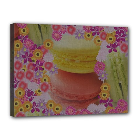 Macaroons and Floral Delights Canvas 16  x 12