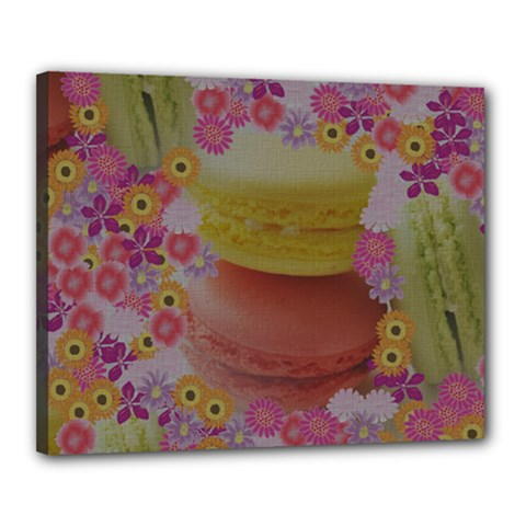 Macaroons and Floral Delights Canvas 20  x 16