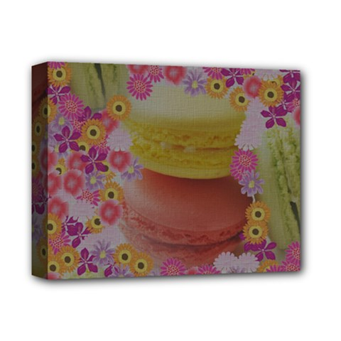 Macaroons and Floral Delights Deluxe Canvas 14  x 11