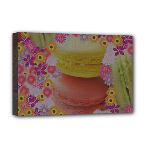 Macaroons and Floral Delights Deluxe Canvas 18  x 12