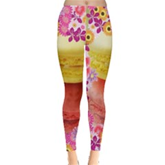Macaroons and Floral Delights Women s Leggings