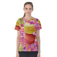 Macaroons And Floral Delights Women s Cotton Tees