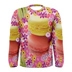 Macaroons and Floral Delights Men s Long Sleeve T-shirts