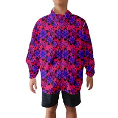 Neon Retro Flowers Pink Wind Breaker (kids)