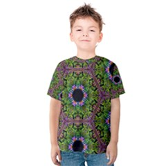 Repeated Geometric Circle Kaleidoscope Kid s Cotton Tee