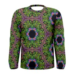 Repeated Geometric Circle Kaleidoscope Men s Long Sleeve T-shirts