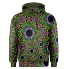 Repeated Geometric Circle Kaleidoscope Men s Pullover Hoodies