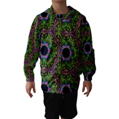 Repeated Geometric Circle Kaleidoscope Hooded Wind Breaker (kids)