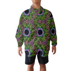 Repeated Geometric Circle Kaleidoscope Wind Breaker (Kids)