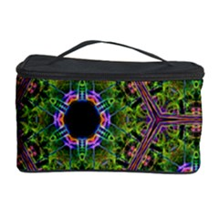 Repeated Geometric Circle Kaleidoscope Cosmetic Storage Cases