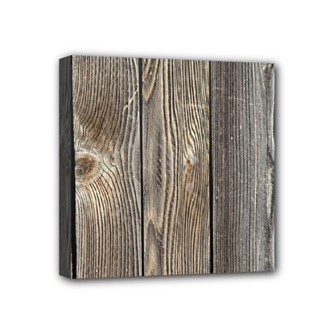 Wood Fence Mini Canvas 4  X 4
