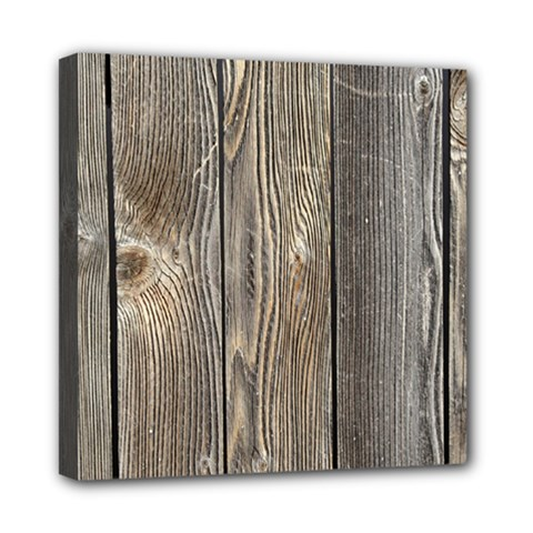 Wood Fence Mini Canvas 8  X 8