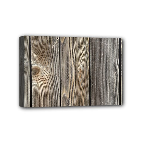 Wood Fence Mini Canvas 6  X 4