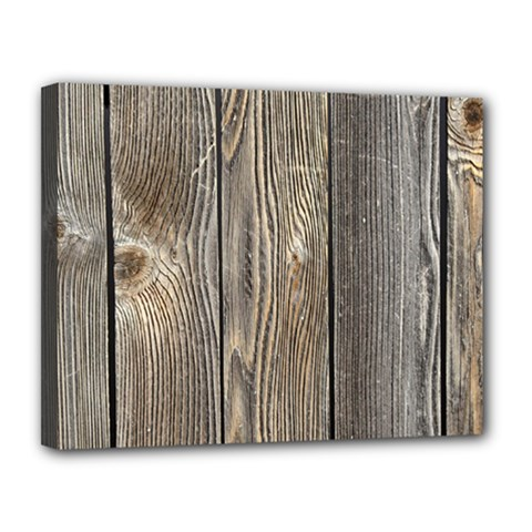 Wood Fence Canvas 14  X 11