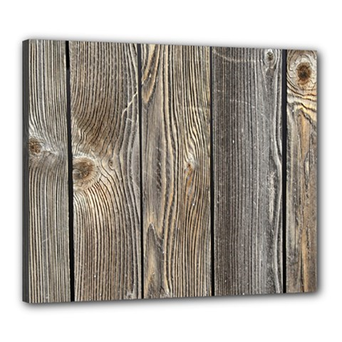 Wood Fence Canvas 24  X 20