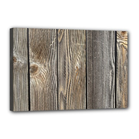 Wood Fence Canvas 18  X 12