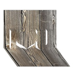 WOOD FENCE I Love You 3D Greeting Card (7x5)