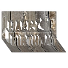 WOOD FENCE Happy Birthday 3D Greeting Card (8x4)