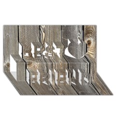 WOOD FENCE Best Friends 3D Greeting Card (8x4)