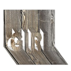WOOD FENCE GIRL 3D Greeting Card (7x5)
