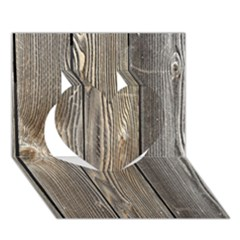 WOOD FENCE Heart 3D Greeting Card (7x5)