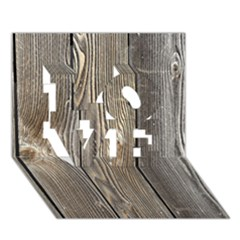 Wood Fence Love 3d Greeting Card (7x5)