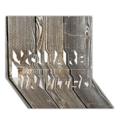 WOOD FENCE YOU ARE INVITED 3D Greeting Card (7x5)