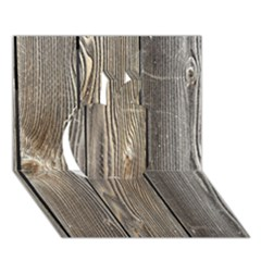 Wood Fence Apple 3d Greeting Card (7x5)
