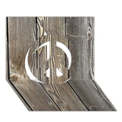 WOOD FENCE Peace Sign 3D Greeting Card (7x5)