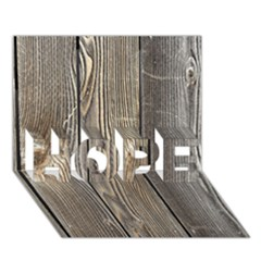 Wood Fence Hope 3d Greeting Card (7x5)