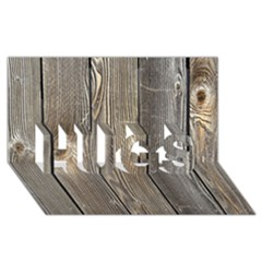 WOOD FENCE HUGS 3D Greeting Card (8x4)