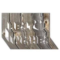 WOOD FENCE Best Wish 3D Greeting Card (8x4)