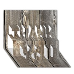 Wood Fence Thank You 3d Greeting Card (7x5)