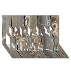 WOOD FENCE Merry Xmas 3D Greeting Card (8x4)