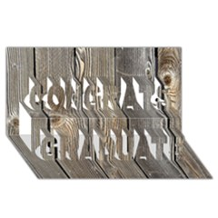 WOOD FENCE Congrats Graduate 3D Greeting Card (8x4)
