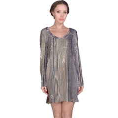 WOOD FENCE Long Sleeve Nightdresses