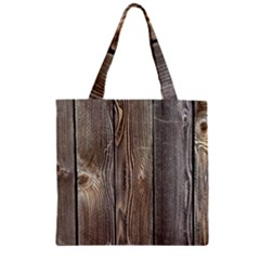 Wood Fence Zipper Grocery Tote Bags