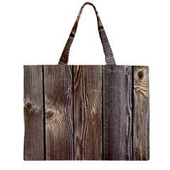 Wood Fence Zipper Tiny Tote Bags