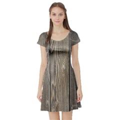 WOOD FENCE Short Sleeve Skater Dresses