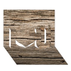 Weathered Wood I Love You 3d Greeting Card (7x5)