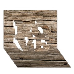 Weathered Wood Love 3d Greeting Card (7x5)