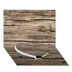 WEATHERED WOOD Heart Bottom 3D Greeting Card (7x5)